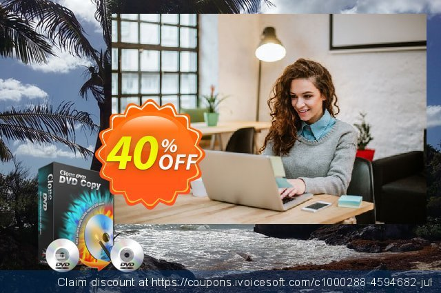 CloneDVD DVD Copy 4 years/1 PC discount 40% OFF, 2020 Halloween offering sales