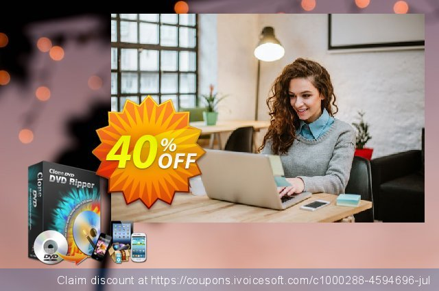 CloneDVD DVD Ripper lifetime/1 PC discount 40% OFF, 2020 Christmas & New Year offering sales
