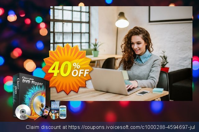 CloneDVD DVD Ripper 1 year/1 PC discount 30% OFF, 2020 New Year discount