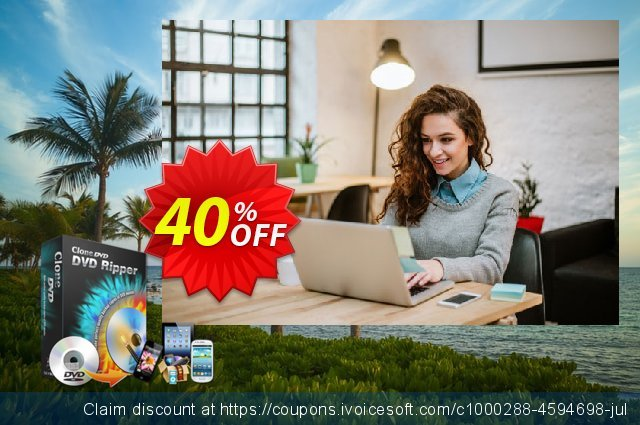 CloneDVD DVD Ripper 2 years/1 PC discount 30% OFF, 2020 Teddy Day offering sales