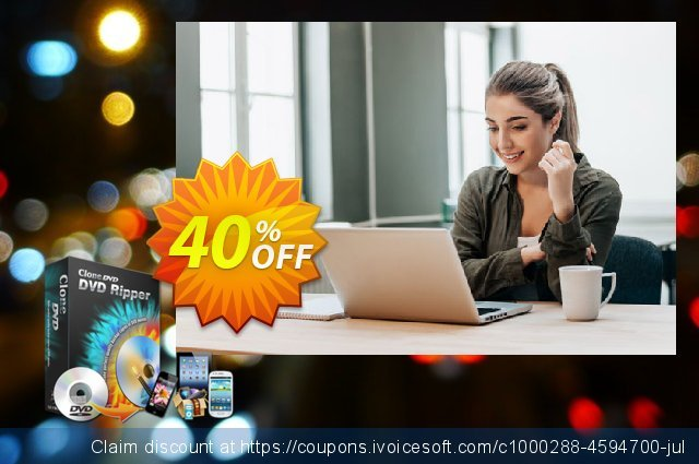 CloneDVD DVD Ripper 3 years/1 PC discount 40% OFF, 2020 End year discounts