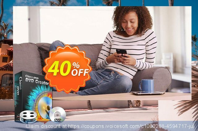CloneDVD DVD Creator 4 years/1 PC discount 30% OFF, 2020 Spring offering discount