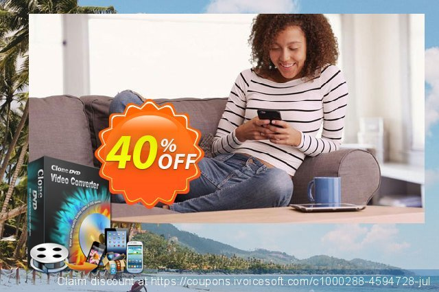 CloneDVD Video Converter lifetime/1 PC discount 40% OFF, 2020 Year-End promo sales