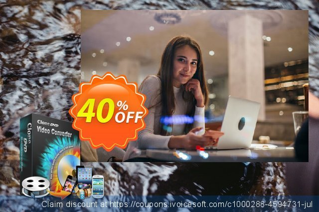CloneDVD Video Converter 3 Years/1 PC discount 40% OFF, 2020 Xmas offering sales