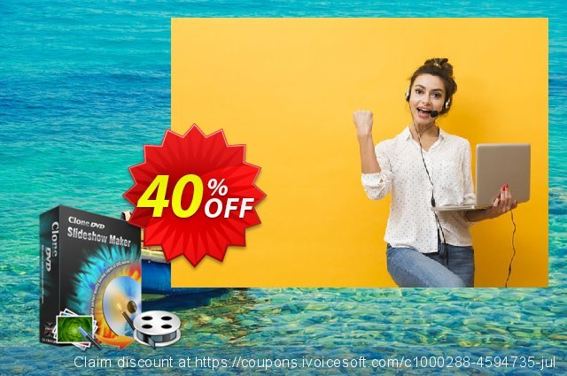 CloneDVD Slideshow Maker 2 years/1 PC 대단하다  촉진  스크린 샷