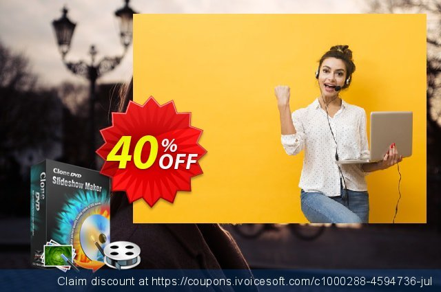 CloneDVD Slideshow Maker 3 years/1 PC discount 40% OFF, 2020 Halloween offering sales