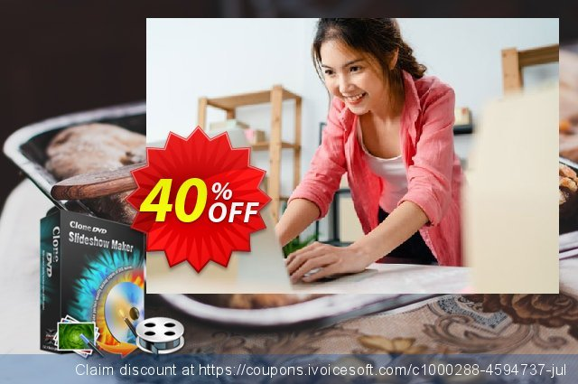 CloneDVD Slideshow Maker 4 years/1 PC  경이로운   할인  스크린 샷