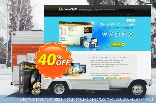 Audio DVD Maker lifetime/1 PC discount 30% OFF, 2020 Happy New Year offering sales