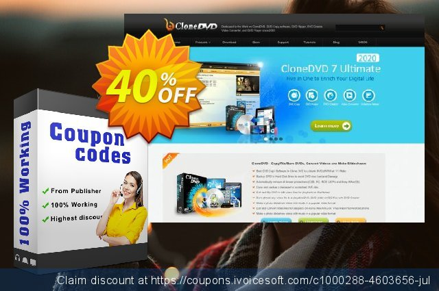 CloneDVD 7 Ulitimate 4 years/1 PC discount 30% OFF, 2020 Spring offering sales