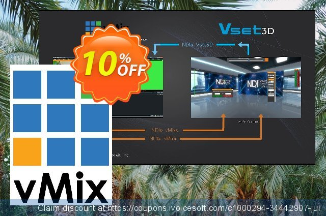 vMix 4K and Vset3D Pro discount 10% OFF, 2021 Spring offering sales