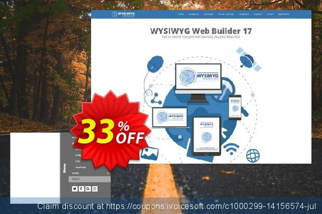 Slideout Panel Menu Extension for WYSIWYG Web Builder discount 25% OFF, 2020 Happy New Year discount