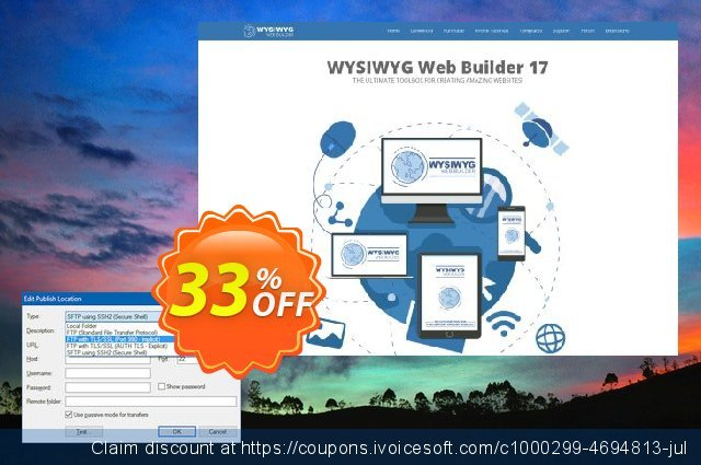 Secure FTP Extension for WYSIWYG Web Builder了不起的销售折让 软件截图