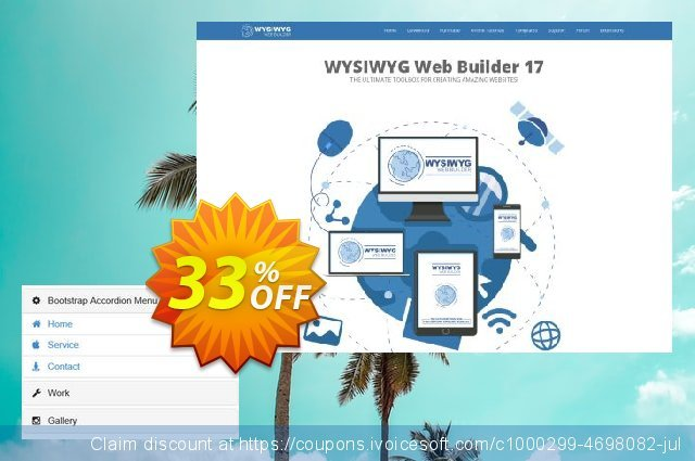 Bootstrap Accordion Menu Extension for WYSIWYG Web Builder discount 10% OFF, 2019 Halloween offering sales