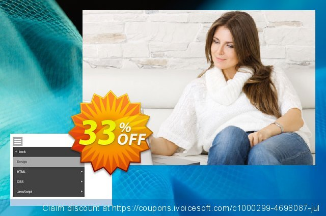 Responsive Multi Level Menu Extension for WYSIWYG Web Builder discount 10% OFF, 2019 New Year's Day sales