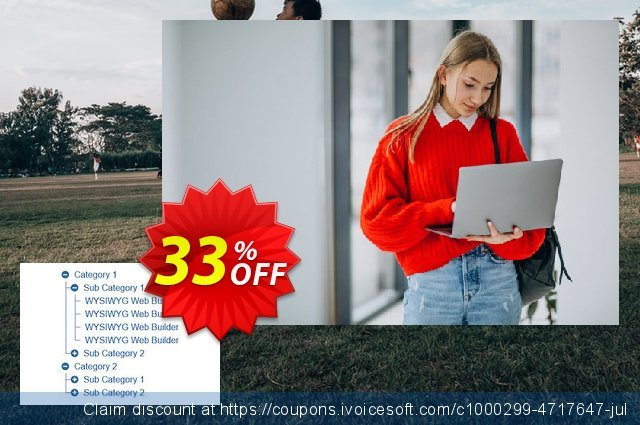 TreeView Menu Extension for WYSIWYG Web Builder 令人震惊的 产品销售 软件截图