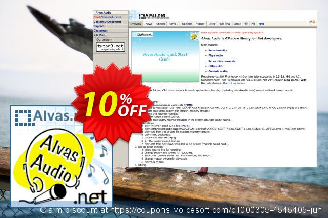 Alvas.Audio Single License 大的 产品销售 软件截图