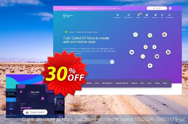 BLK Design System PRO discount 30% OFF, 2020 July 4th promo sales
