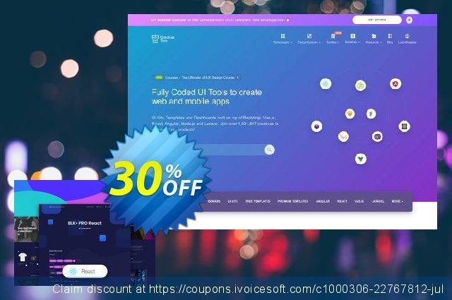BLK Design System PRO React discount 30% OFF, 2020 Halloween promotions