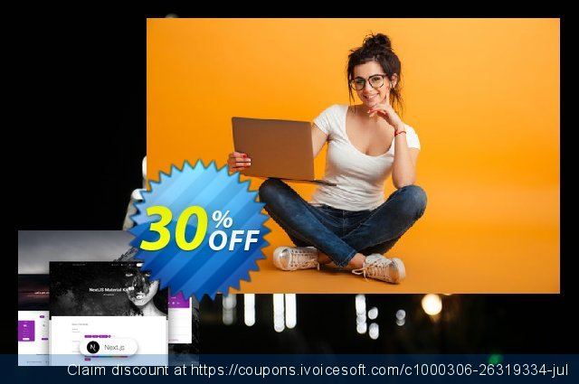 NextJS Material Kit PRO discount 30% OFF, 2021 Working Day discounts. NextJS Material Kit PRO Awesome sales code 2021