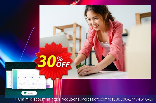 Vue White Dashboard PRO discount 30% OFF, 2020 Thanksgiving offering sales