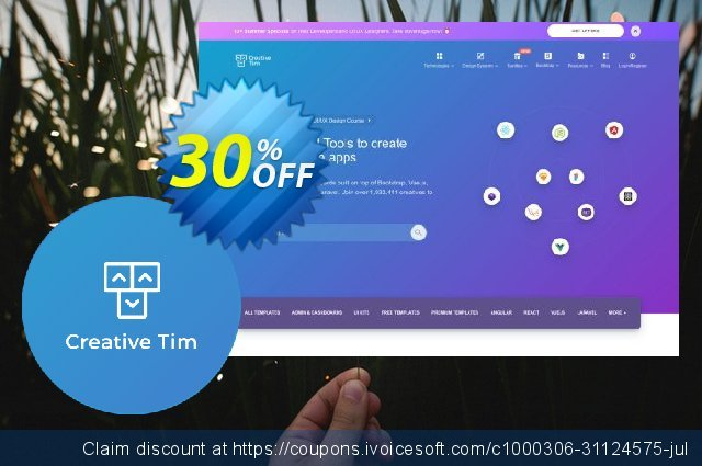 CreativeTim The Ultimate Full Stack Bundle discount 30% OFF, 2021 American Independence Day promo. The Ultimate Full Stack  Bundle Special offer code 2021