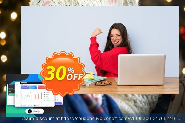 NextJS Argon Dashboard PRO discount 30% OFF, 2021 New Year offering sales