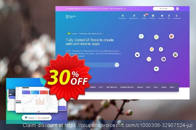 Vue Argon Dashboard PRO Laravel discount 30% OFF, 2021 January offering sales
