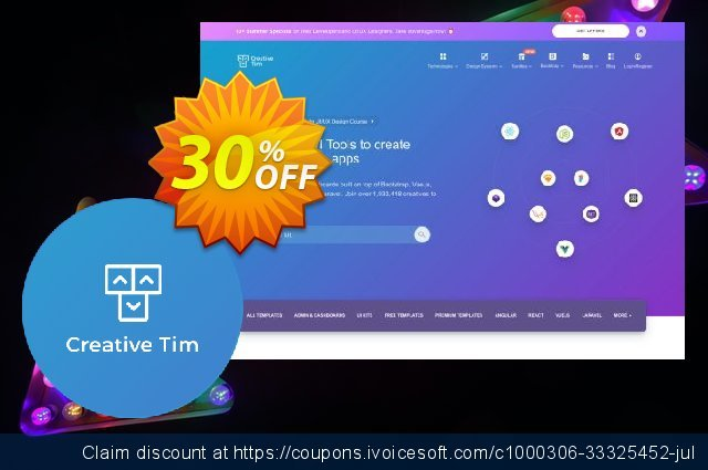 Creative-Tim Winter React Bundle discount 30% OFF, 2021 January offering sales