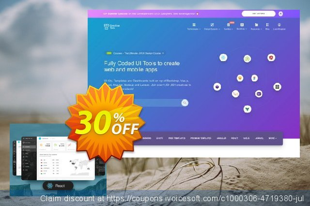 Light Bootstrap Dashboard PRO React discount 30% OFF, 2020 Happy New Year offering sales