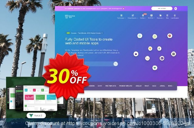 Vue Material Dashboard PRO discount 30% OFF, 2019 College Student deals promotions