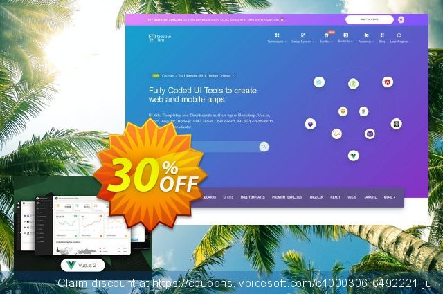 Vue Paper Dashboard 2 PRO discount 30% OFF, 2020 Fourth of July promo sales