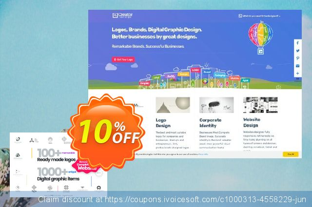 Logo Creator - Instant Download Extended License discount 10% OFF, 2020 New Year offering sales