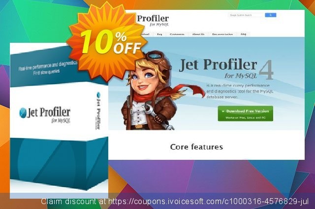 Jet Profiler for MySQL, Enterprise Version discount 10% OFF, 2020 July 4th discount