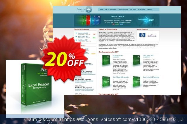 Excel Reader .NET - Developer License discount 20% OFF, 2020 4th of July offering sales