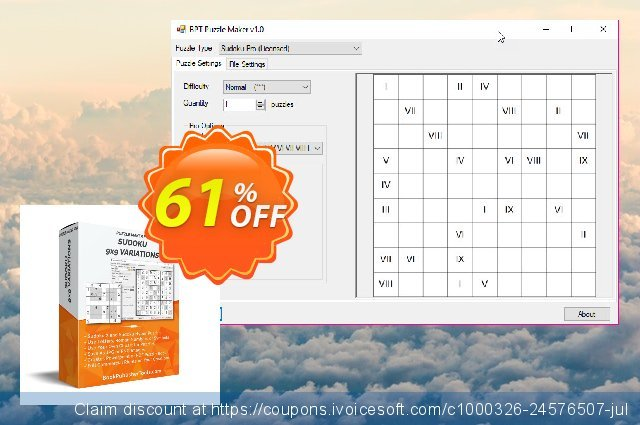 Puzzle Maker Pro Sudoku 9x9 Variations discount 10% OFF, 2019 Halloween offering deals