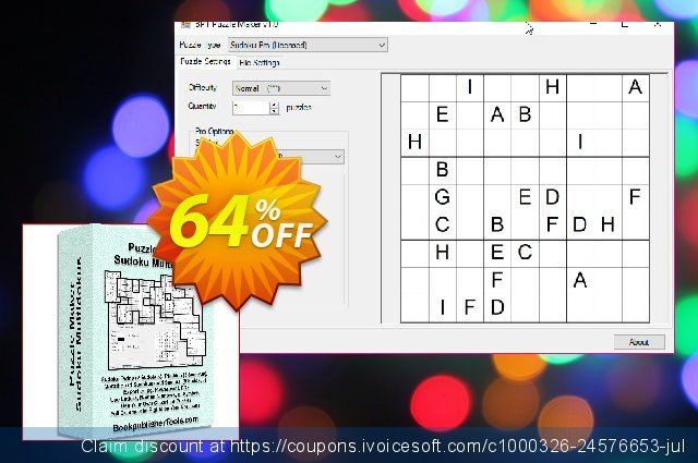 Puzzle Maker Pro Sudoku Multidokus discount 10% OFF, 2019 Halloween sales