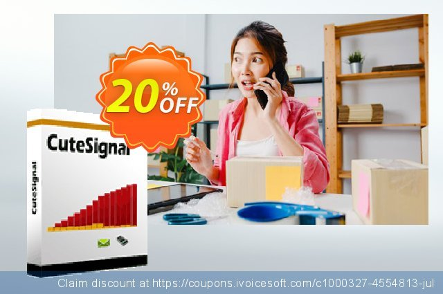 Cutesignal  - 15 days Subscription discount 20% OFF, 2021 National Women month discounts