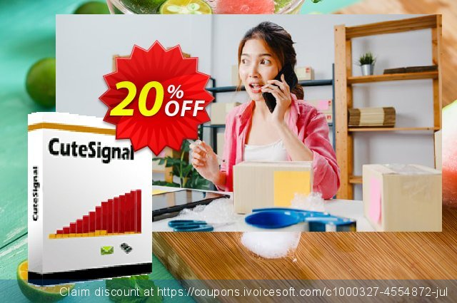 Cutesignal  - Annually Subscription discount 20% OFF, 2020 4th of July offering discount