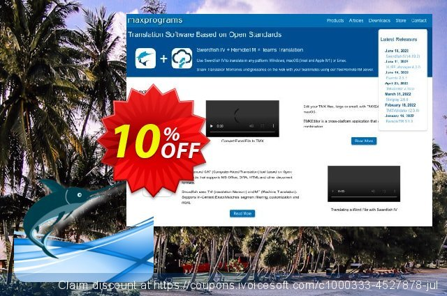Swordfish Translation Editor - Site License (20 users) discount 10% OFF, 2019 Halloween promo sales