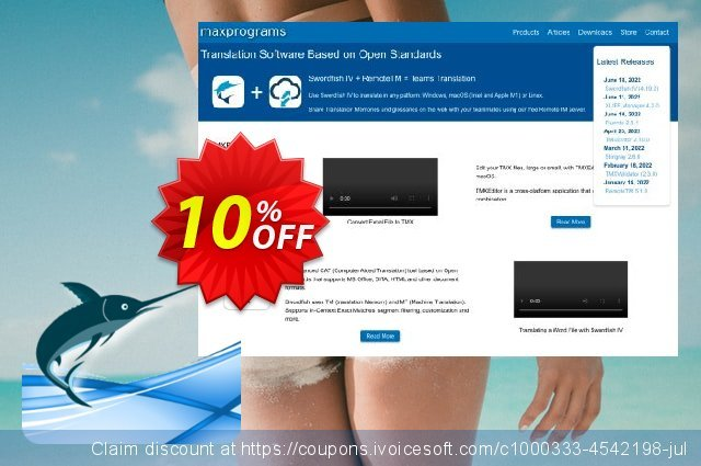 Swordfish Translation Editor - Site License (10 users) discount 10% OFF, 2020 January offering sales