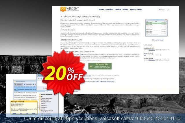 Winsent Messenger (Family license) discount 20% OFF, 2020 Exclusive Teacher discount promo