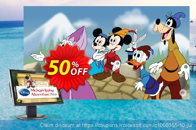 Disney: Mickey's Typing Adventure Web (Annual Subscription) discount 40% OFF, 2020 Thanksgiving Day offering deals