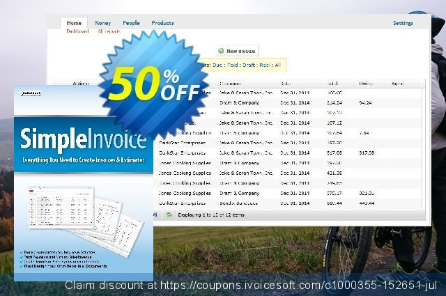 SimpleInvoice discount 40% OFF, 2021 4th of July promo. 40% OFF SimpleInvoice, verified
