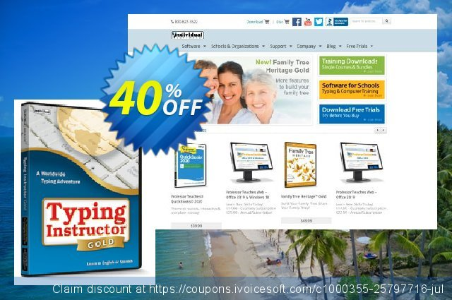 Typing Instructor Gold for Mac discount 40% OFF, 2020 Back to School coupons promo sales