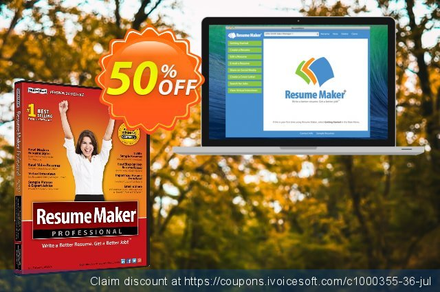 ResumeMaker for Mac discount 30% OFF, 2021 April Fools' Day offering deals