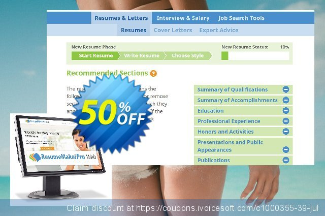 ResumeMaker Professional for Web (Annual Subscription) discount 40% OFF, 2021 Daylight Saving promo