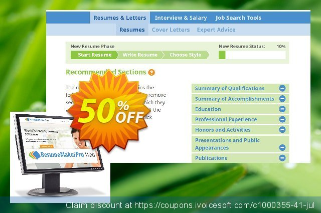 ResumeMaker Professional for Web (Monthly Subscription) discount 40% OFF, 2021 Easter day offering sales