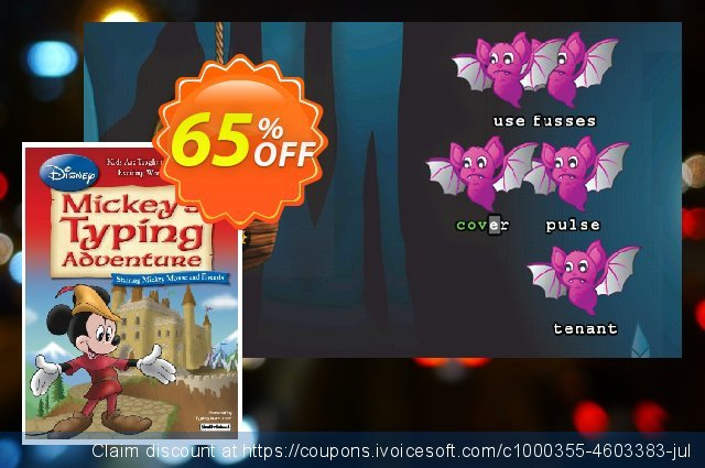 Disney: Mickey's Typing Adventure for Mac discount 65% OFF, 2021 Magic Day offering sales. Black Friday & Cyber Monday Are Here!
