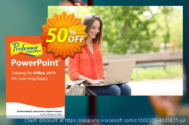 Professor Teaches PowerPoint 2019 discount 40% OFF, 2021 Mother's Day discount. Professor Teaches PowerPoint 2013 special discount code 2021