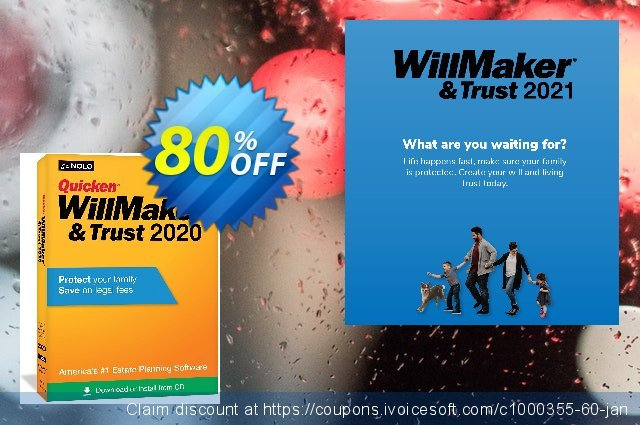 Quicken WillMaker & Trust 2021 discount 80% OFF, 2021 New Year's Day promo